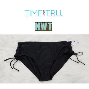 NWT Time & Tru Black Swimsuit Bottom Size 3X
